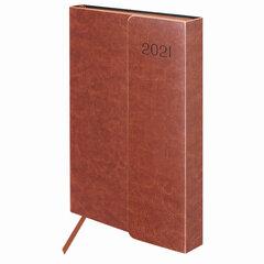 """Ежедневник датированный 2021 А5 (148х218 мм) GALANT """"Magnetic"""", кожзам, клапан, коричневый, 111521"""