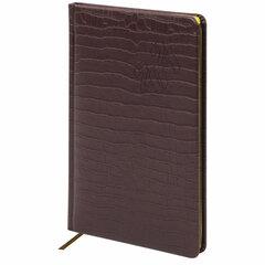 """Еженедельник датированный 2021 А5 (145х215 мм) BRAUBERG """"Comodo"""", кожзам, коричневый, 111533"""