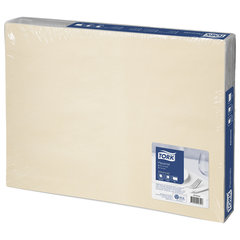 Салфетки бумажные под тарелку TORK Advanced, 42х31 см, 500 шт., кремовые, 474554