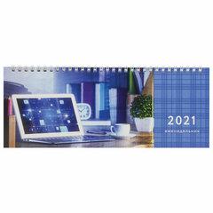 """Планинг датированный 2021 (285х112 мм), STAFF, картонная обложка на спирали, 60 л., """"Бизнес"""", 111829"""