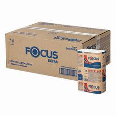 Полотенца бумажные 200 шт. FOCUS (Система H2) Extra, 2-слойные, белые, КОМПЛЕКТ 20 пачек, 24х21,5, Z-сложение, 5048672