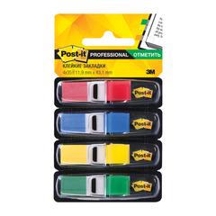 Закладки клейкие POST-IT Professional, пластиковые, 12 мм, 4 цв. х 35 шт.