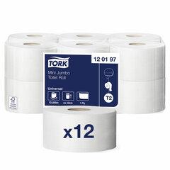 Бумага туалетная 200 м, TORK (Система Т2), комплект 12 штук, Universal, 120197