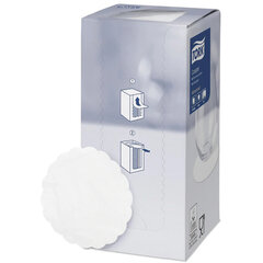 Подставки под чашку (коастер) бумажные TORK, комплект 250 шт., белые, 8-слойные, диаметр 9 см, зубчатый край, 474474