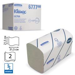 Полотенца бумажные 124 шт., KIMBERLY-CLARK Kleenex, КОМПЛЕКТ 30 шт., Ultra, 2-слойные, бел., 31,5х21,5 см, Interfold, 601533-534