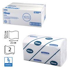 Полотенца бумажные 186 шт., KIMBERLY-CLARK Kleenex, КОМПЛЕКТ 15 шт., Ultra, 2-х слойные, белые, 21х21,5 см, Interfold (601533-534)6789