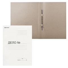 Скоросшиватель картонный мелованный BRAUBERG, гарантированная плотность 440 г/м2, до 200 листов, 128987