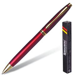 """Ручка подарочная шариковая BRAUBERG """"De Luxe Red"""", корпус бордовый, узел 1 мм, линия письма 0,7 мм, синяя, 141413"""