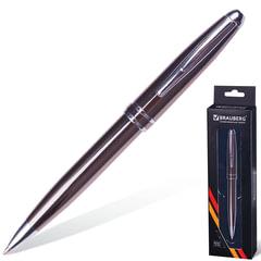 """Ручка подарочная шариковая BRAUBERG """"Oceanic Grey"""", корпус серый, узел 1 мм, линия письма 0,7 мм, синяя, 141420"""