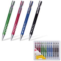 "Ручка бизнес-класса шариковая BRAUBERG ""State"", корпус ассорти, узел 1 мм, линия письма 0,7 мм, синяя, 141431"