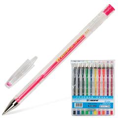 Ручки гелевые BEIFA (Бэйфа) НАБОР 10 шт., АССОРТИ, узел 0,7 мм, линия письма 0,5 мм, PX888-10