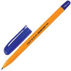 """Ручка шариковая STAFF """"EVERYDAY"""", СИНЯЯ, шестигранная, корпус оранжевый, узел 1 мм, линия письма 0,5 мм, 142661"""