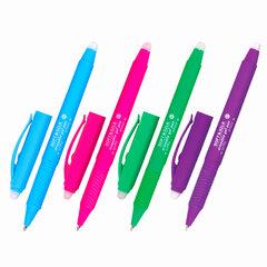 """Ручка стираемая гелевая с грипом BRAUBERG """"SOFT&SILK FRUITY"""", СИНЯЯ, корпус ассорти, узел 0,7 мм, 143254"""