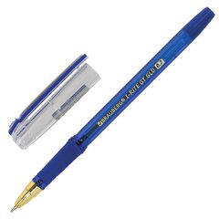 """Ручка шариковая масляная с грипом BRAUBERG """"i-Rite GT GLD"""", СИНЯЯ, корпус тонированный синий, узел 0,7 мм, 143302"""