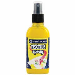 """Краска-спрей для ткани и одежды ЖЕЛТАЯ CENTROPEN """"Textile Spray"""", 110 мл, 1139"""