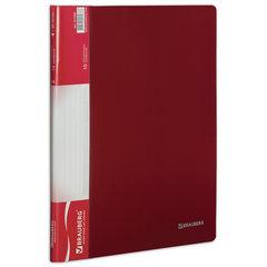 Папка 10 вкладышей BRAUBERG стандарт, красная, 0,5 мм, 221590
