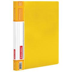 """Папка с металлическим скоросшивателем и внутренним карманом BRAUBERG """"Contract"""", желтая, до 100 л., 0,7 мм, 221785"""
