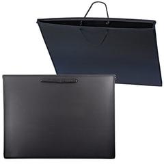 Папка для рисунков и чертежей БОЛЬШОГО ФОРМАТА (460х343 мм) А3+, с ручками, пластик, черная, ПЧЕЛКА, ПМ-А3-35