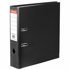 """Папка-регистратор ESSELTE """"Economy"""", покрытие пластик, 75 мм, черная, 11257P"""