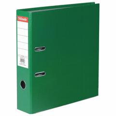 "Папка-регистратор ESSELTE ""Economy"", покрытие пластик, 75 мм, зеленая, 11256P"