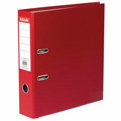 """Папка-регистратор ESSELTE """"Economy"""", покрытие пластик, 75 мм, красная, 11253P"""