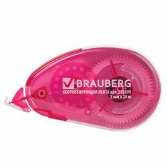 "Корректирующая лента BRAUBERG ""Maxi"", увеличенная длина 5 мм х 25 м, белый/красный корпус, блистер, 225593"