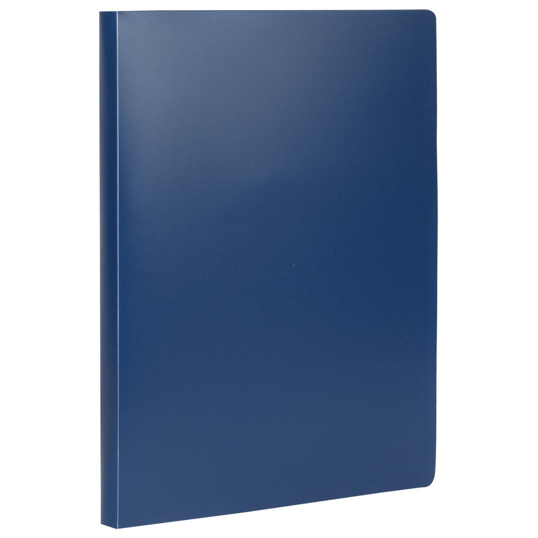 Папка на 2 кольцах STAFF, 21 мм, синяя, до 170 листов, 0,5 мм, 225716