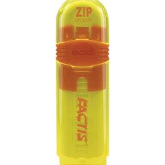 Ластик выдвижной FACTIS ZIP (Испания), 80x10x10 мм, белый, пластиковый корпус ассорти, PTF1030