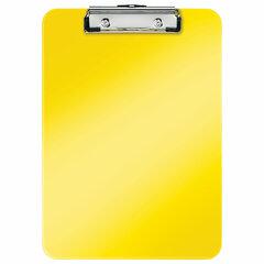 "Доска-планшет LEITZ ""WOW"", с верхним прижимом, A4, 320х228 мм, пластик, 1,7 мм, желтая, 39710016"
