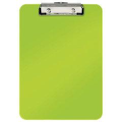 "Доска-планшет LEITZ ""WOW"", с верхним прижимом, A4, 320х228 мм, пластик, 1,7 мм, зеленая, 39710064"