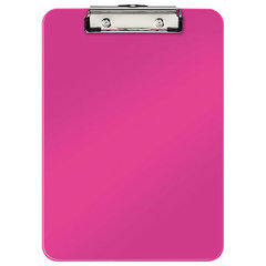 "Доска-планшет LEITZ ""WOW"", с верхним прижимом, A4, 320х228 мм, пластик, 1,7 мм, розовая, 39710023"