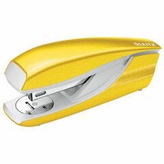 """Степлер №24/6, 26/6 металлический LEITZ """"New NeXXt WOW"""", до 30 л., желтый металлик, 55022016"""