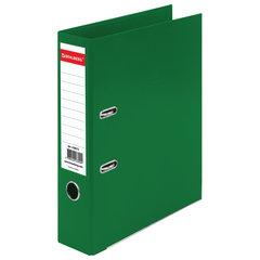 "Папка-регистратор BRAUBERG ""EXTRA"", 75 мм, зеленая, двустороннее покрытие пластик, металлический уголок, 228573"