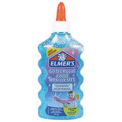 "Клей для слаймов канцелярский с блестками ELMERS ""Glitter Glue"", 177 мл, голубой, 2077252"
