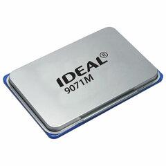 Штемпельная подушка TRODAT IDEAL (90х56 мм), металлическая, синяя, 9071Мс