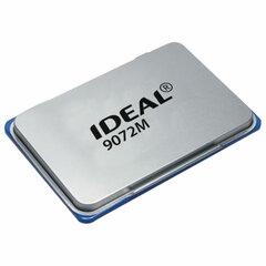 Штемпельная подушка TRODAT IDEAL (110х70 мм), металлическая, синяя, 9072Мс
