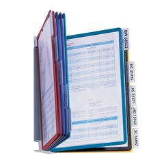 """Демосистема настенная на 10 панелей металлическая с 10 цветными панелями, DURABLE (Германия) """"VARIO"""", 5567-00"""