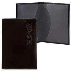 """Обложка для паспорта BEFLER """"Classic"""", натуральная кожа, тиснение """"Passport"""", черная, О.1-1"""