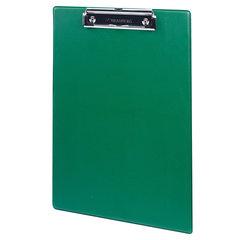 "Доска-планшет BRAUBERG ""NUMBER ONE"" с прижимом А4 (228х318 мм), картон/ПВХ, ЗЕЛЕНАЯ, 232222"