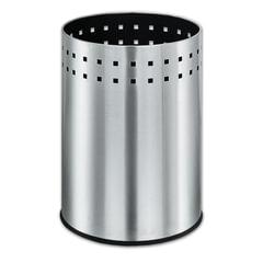 """Корзина металлическая для мусора ЛАЙМА """"Bionic"""", 12 л, матовая, перфорированная, несгораемая, 232268"""