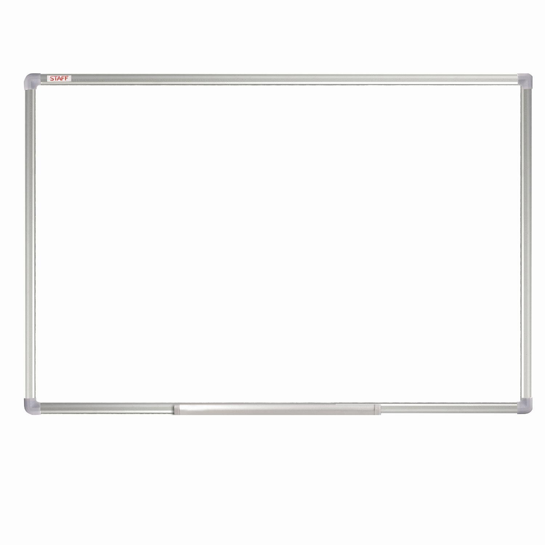 Доска магнитно-маркерная 60х90 см, алюминиевая рамка, ГАРАНТИЯ 10 ЛЕТ, STAFF, 235462