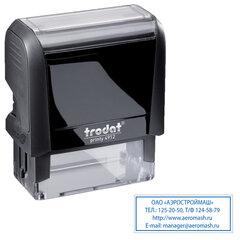 Оснастка для штампа, размер оттиска 47х18 мм, синий, TRODAT 4912 P4, подушка в комплекте