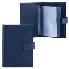 """Бумажник водителя FABULA """"Largo"""", натуральная кожа, тиснение, 6 пластиковых карманов, кнопка, синий, BV.8.LG"""