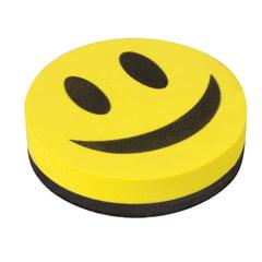 """Стиратель магнитный для магнитно-маркерной доски, круглый, диаметр 90 мм, """"Смайлик"""", STAFF """"Basic"""", 236751"""