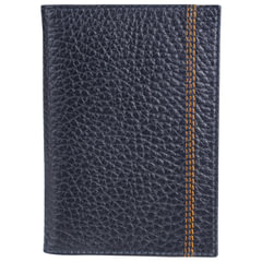 """Обложка для паспорта FABULA """"Brooklyn"""", натуральная кожа, контрастная отстрочка, синяя, О.81.BR"""