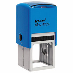 Оснастка для печати (D=40 мм) и штампа (40х40 мм), синий, TRODAT 4924, крышка, подушка в комплекте