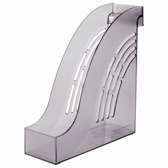 "Лоток вертикальный для бумаг BRAUBERG ""Office"", 255х95х290 мм, тонированный серый, 237230"