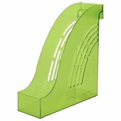 """Лоток вертикальный для бумаг BRAUBERG """"Office"""", 255х95х290 мм, тонированный зеленый, 237234"""