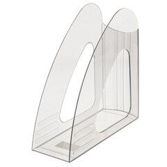 """Лоток вертикальный для бумаг BRAUBERG """"Delta"""", 240х90х240 мм, прозрачный, 237242"""