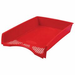 """Лоток горизонтальный для бумаг STAFF """"Profit"""", A4 (330х260х60 мм), полипропилен, красный, 237272"""